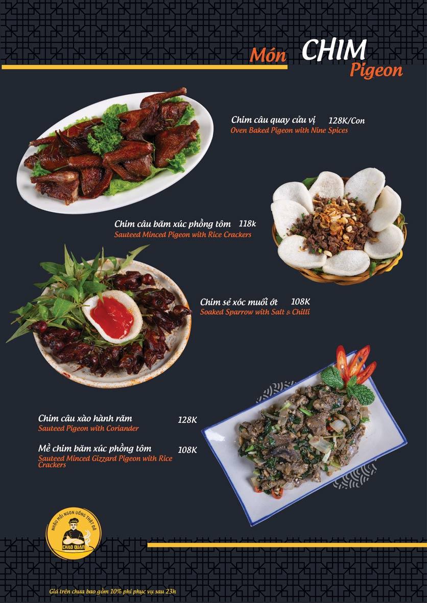 Menu Chao Quán - Hà Đông 14