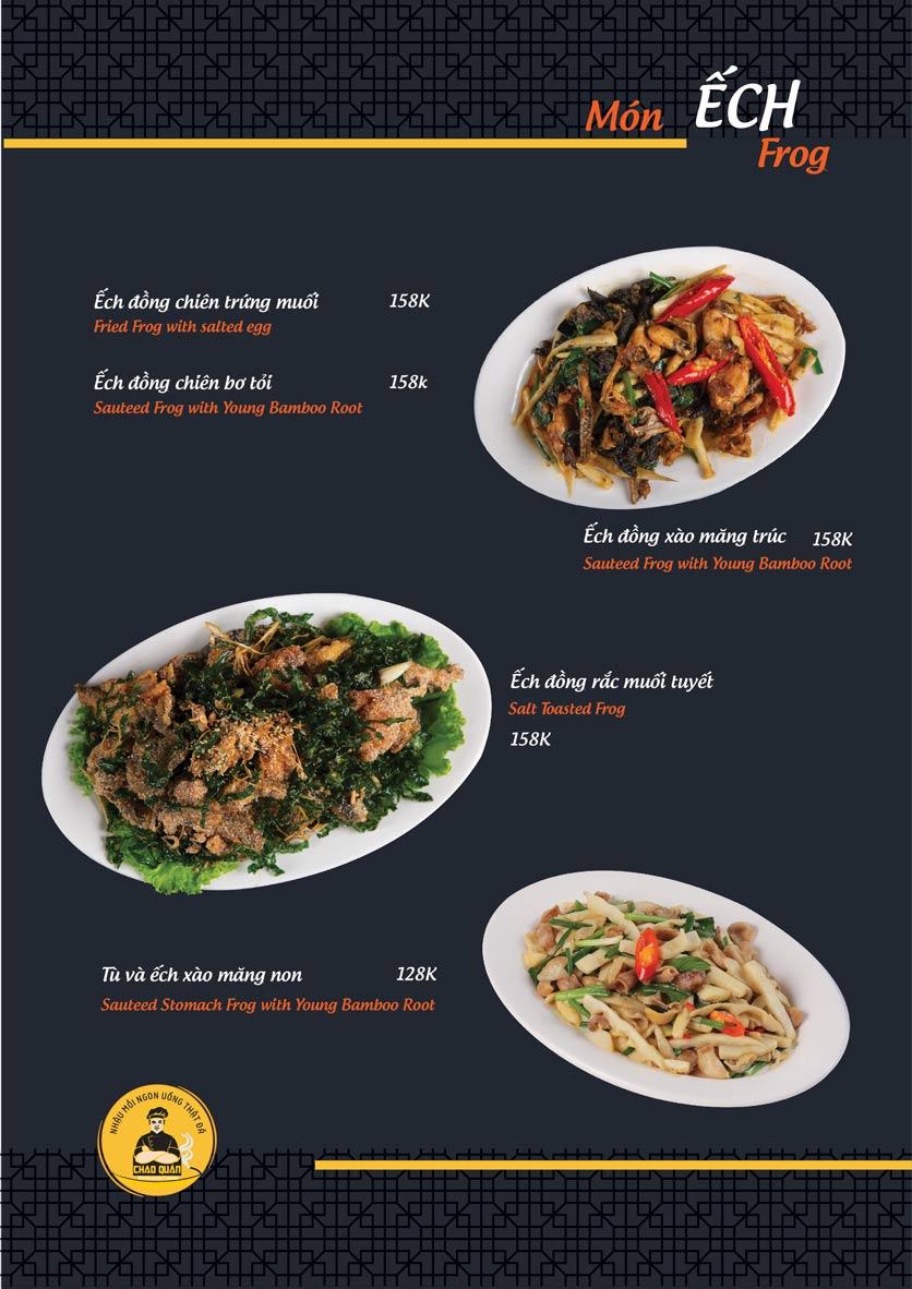 Menu Chao Quán - Hà Đông 6