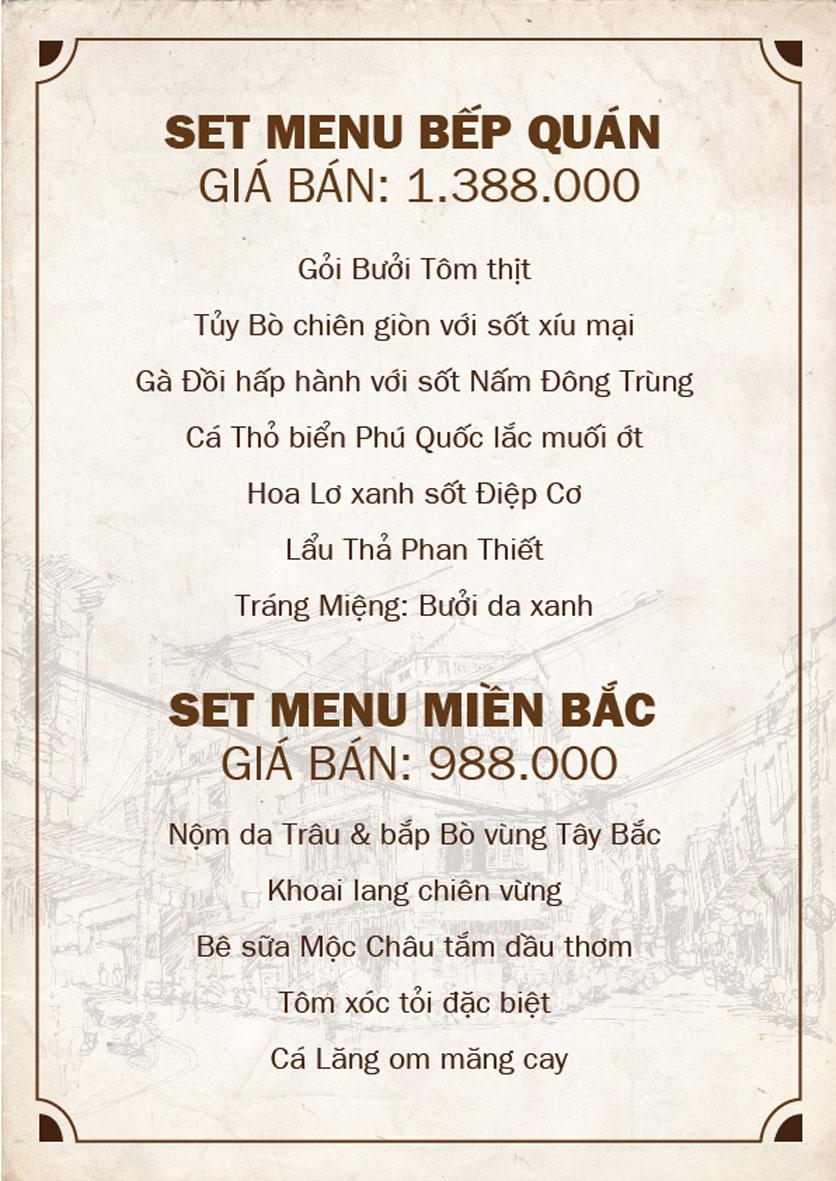 Menu Bếp Quán - Trung Hòa 5