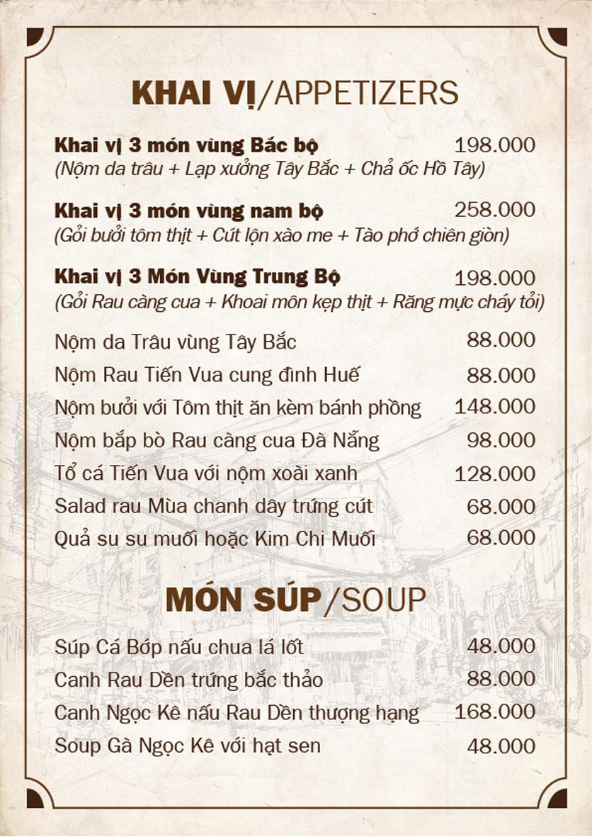 Menu Bếp Quán - Trung Hòa 7