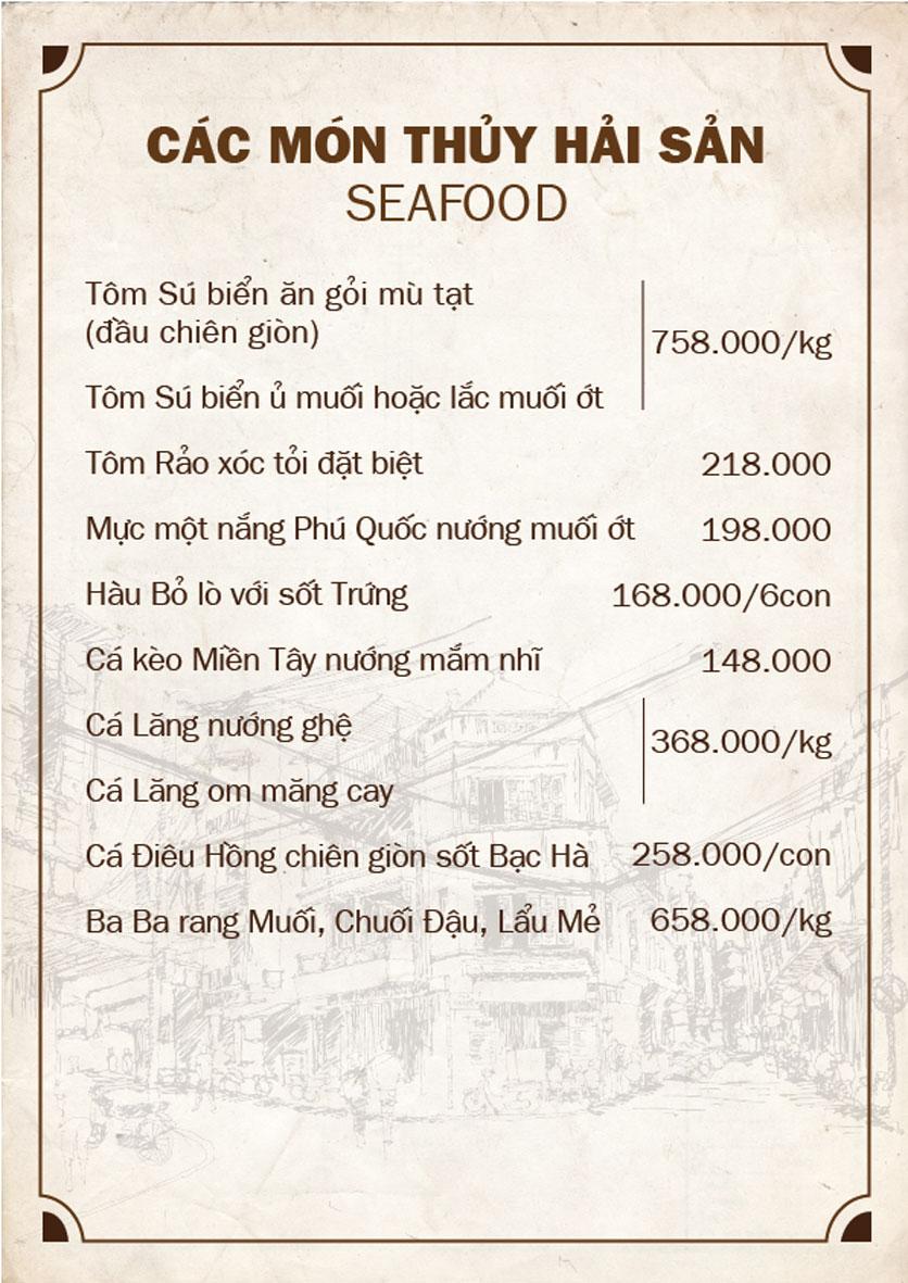 Menu Bếp Quán - Trung Hòa 10