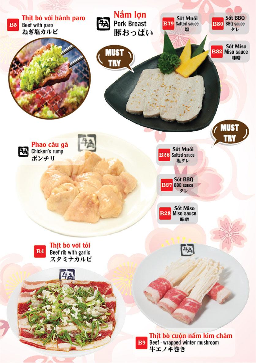 Menu Gyu-Kaku – Aeon Mall Long Biên 5