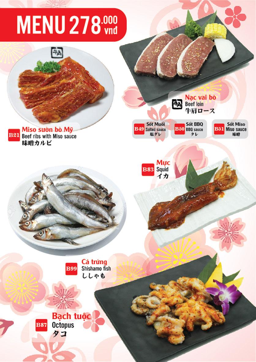 Menu Gyu-Kaku – Aeon Mall Long Biên 6