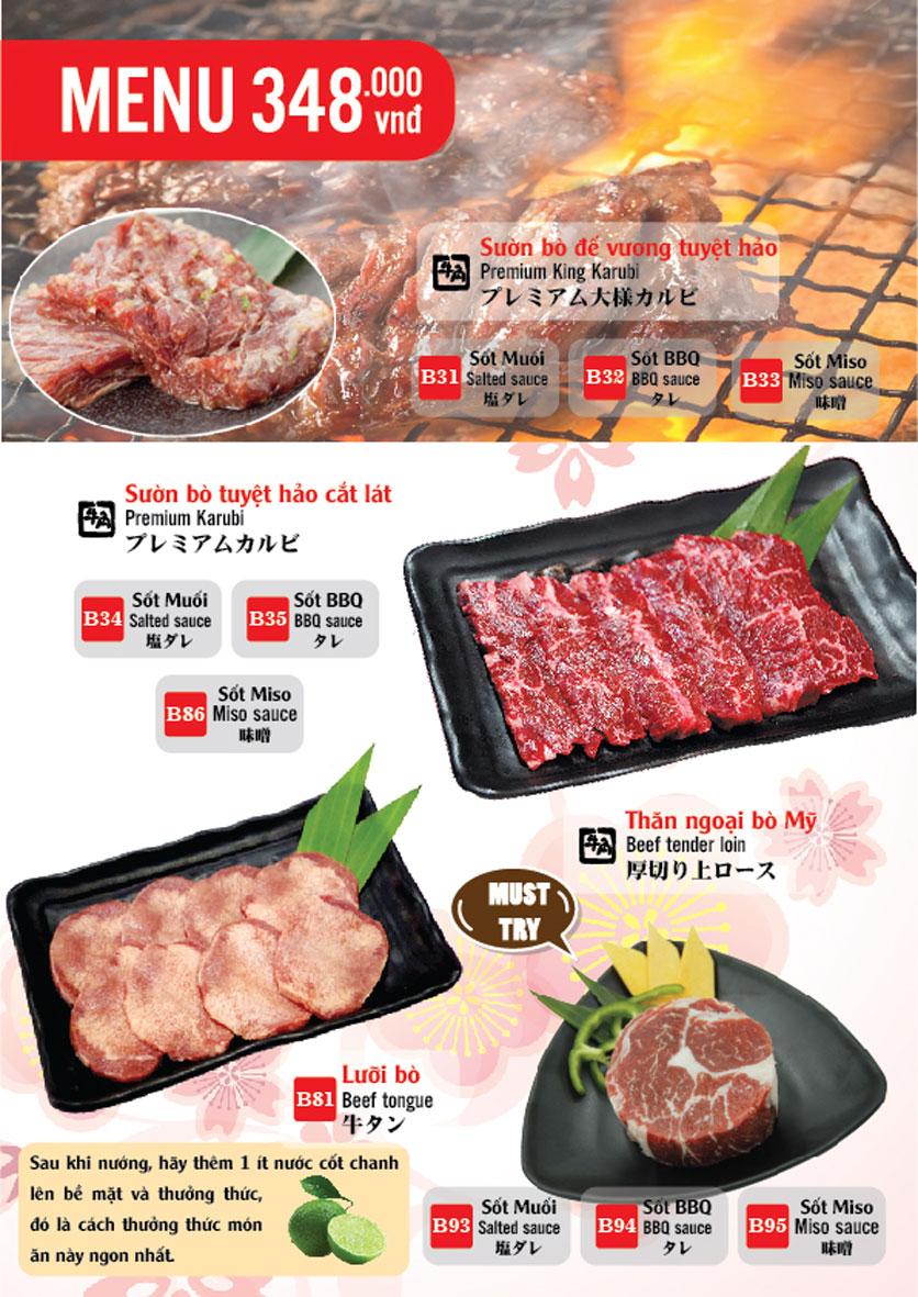 Menu Gyu-Kaku – Aeon Mall Long Biên 8