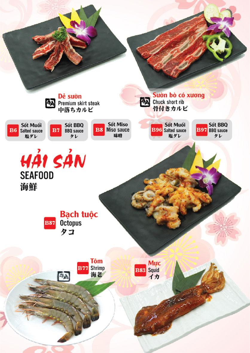 Menu Gyu-Kaku – Aeon Mall Long Biên 9