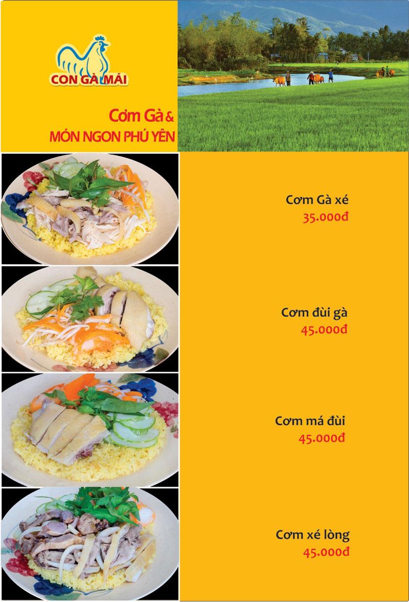 Menu Con Gà Mái - Quang Trung 11