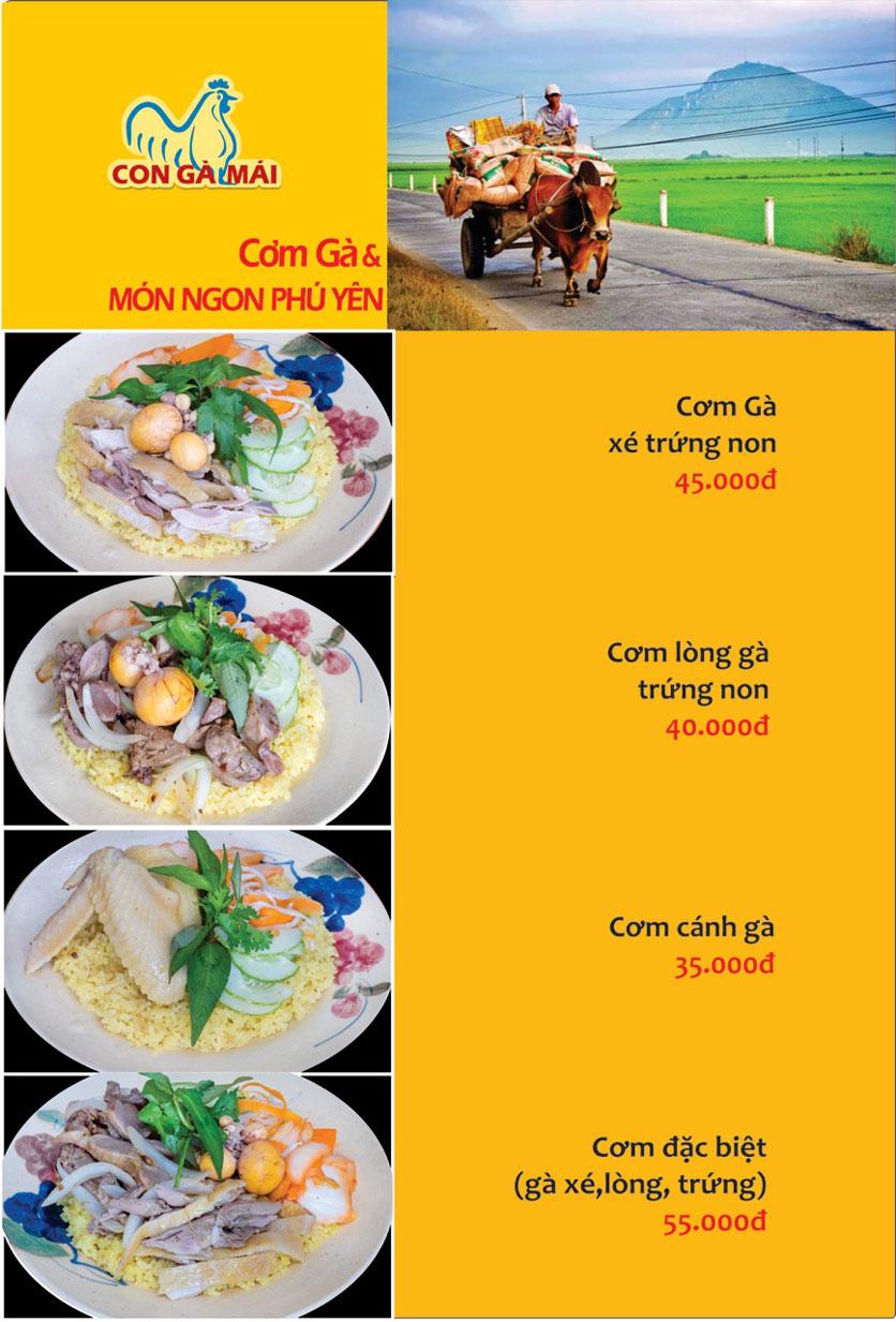 Menu Con Gà Mái - Quang Trung 12