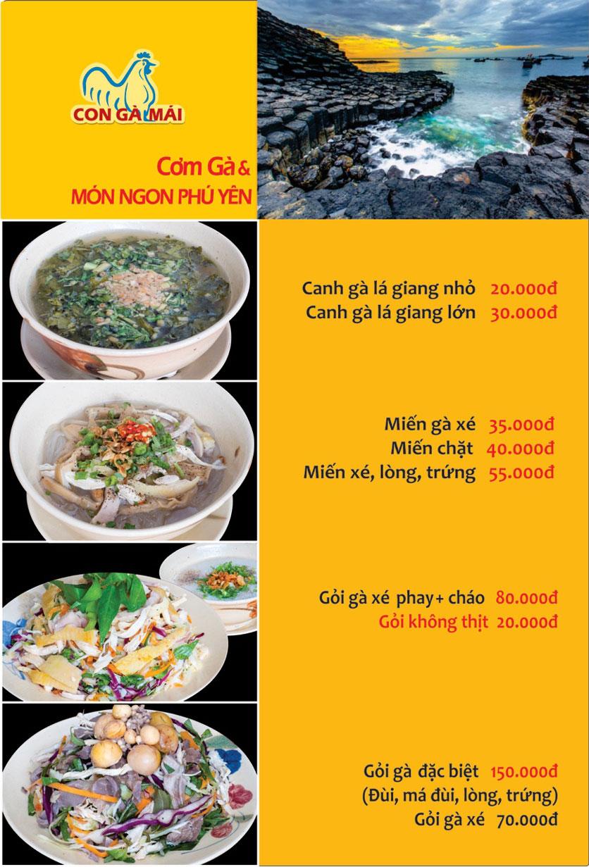Menu Con Gà Mái - Quang Trung 13