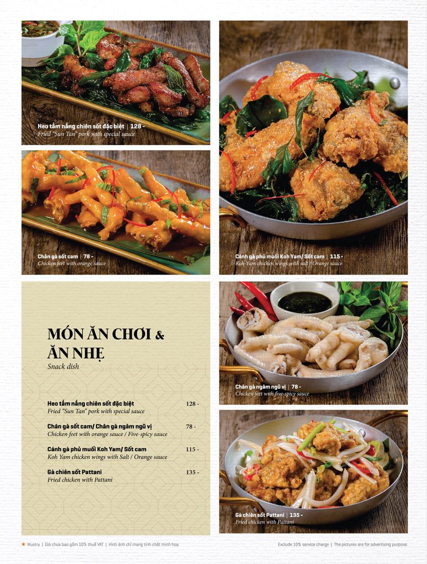 Menu Bếp Thái Koh Yam - Thái Hà 10