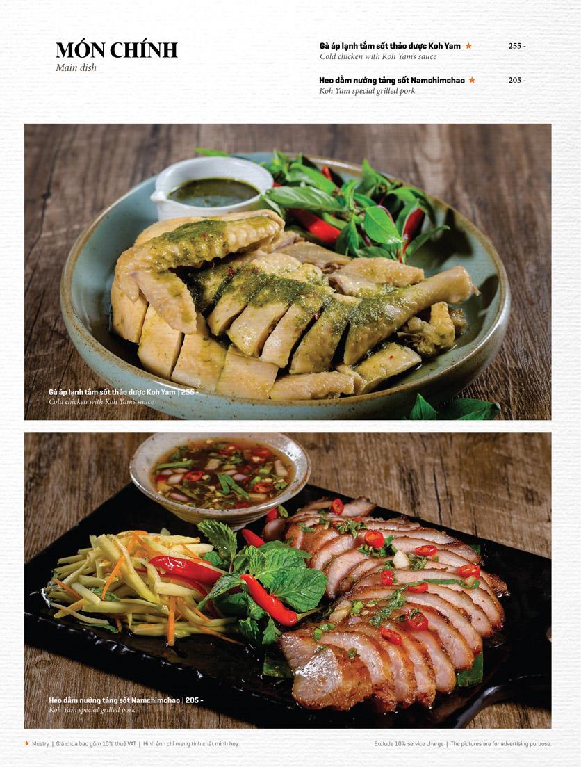 Menu Bếp Thái Koh Yam - Thái Hà 12