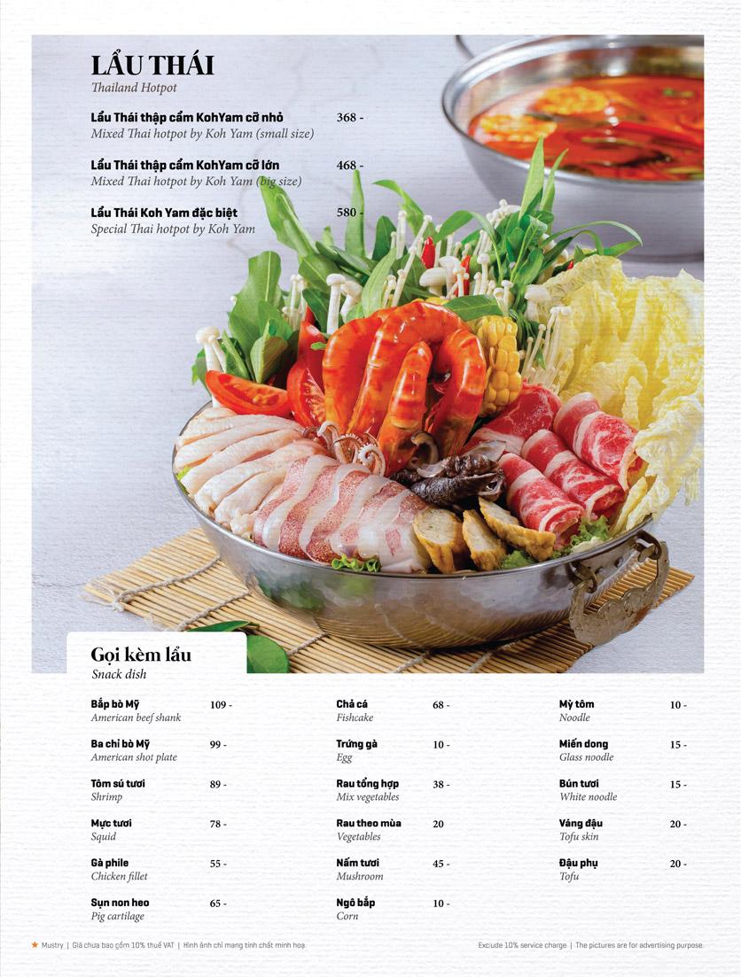 Menu Bếp Thái Koh Yam - Thái Hà 18