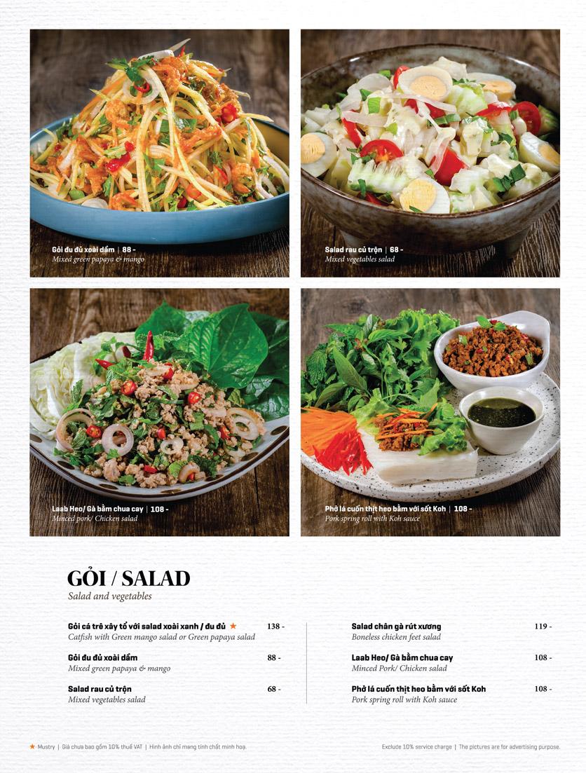 Menu Bếp Thái Koh Yam - Thái Hà 7