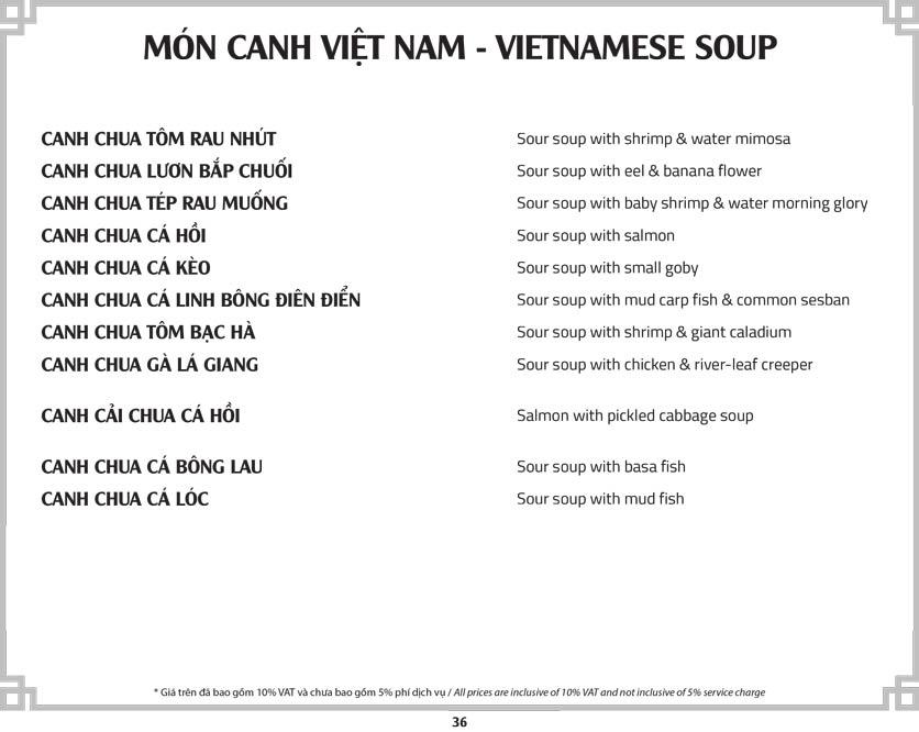 Menu Cơm Niêu Sài Gòn – Tú Xương  41