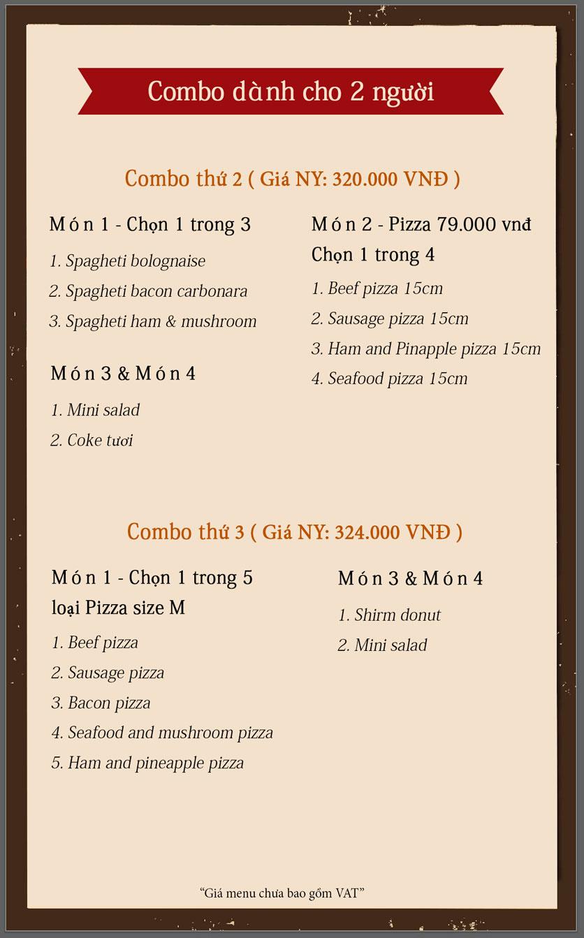 Menu Cowboy Jack's American Dining - Aeon Mall Long Biên 1