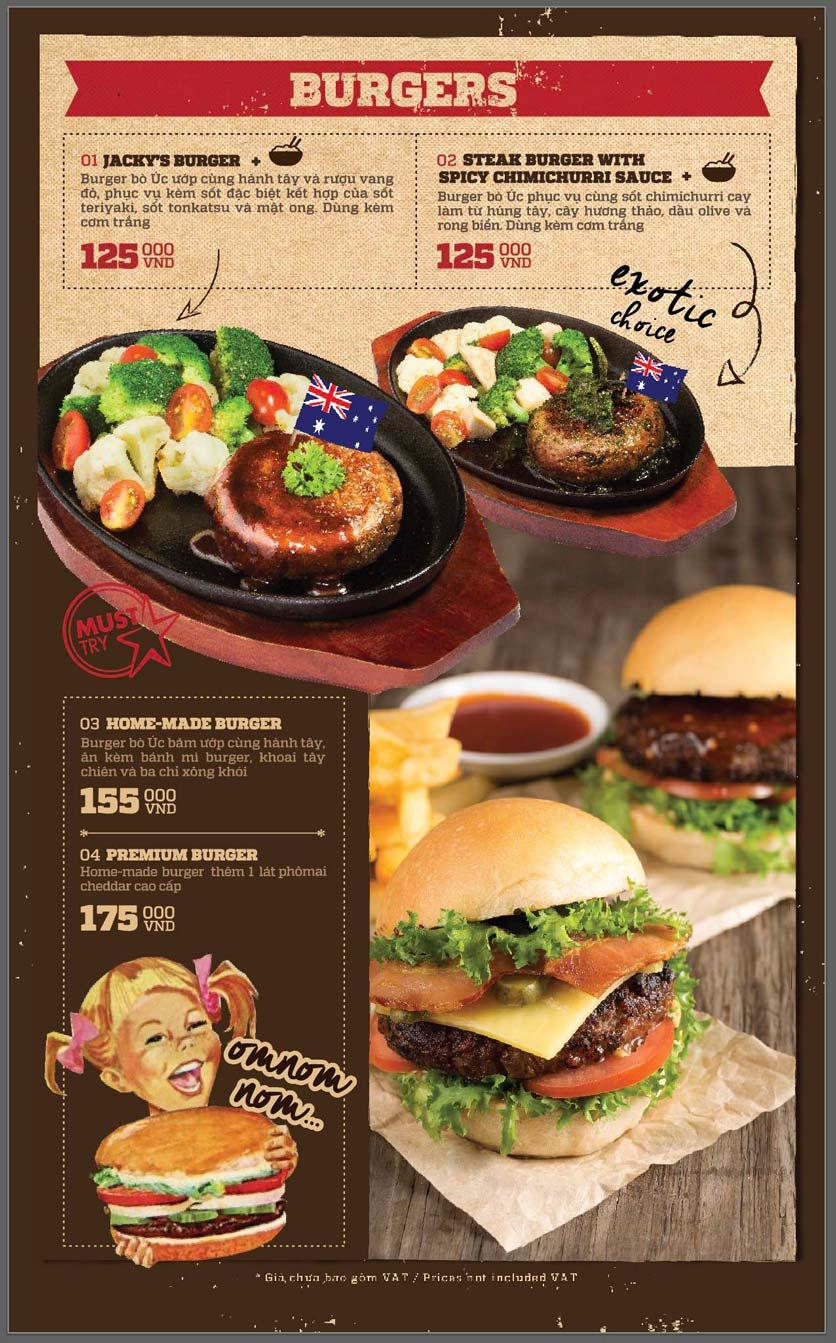 Menu Cowboy Jack's American Dining - Mipec Tây Sơn 8