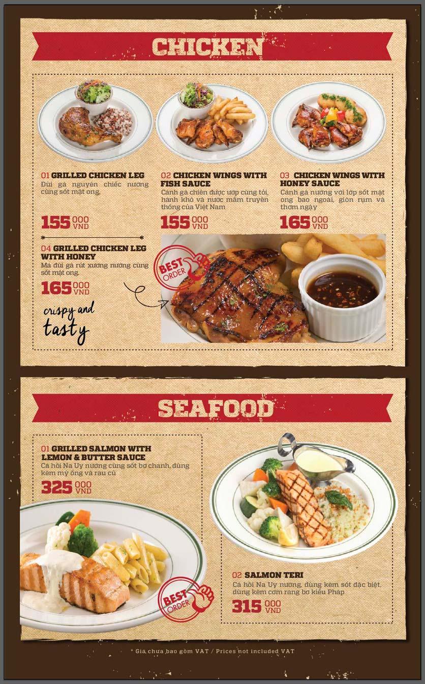 Menu Cowboy Jack's American Dining - Mipec Tây Sơn 9