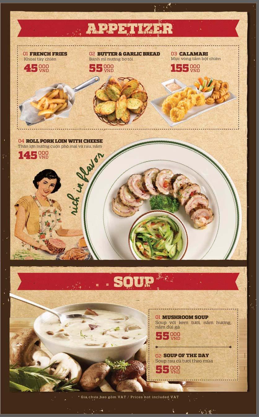 Menu Cowboy Jack's American Dining - Mipec Tây Sơn 11