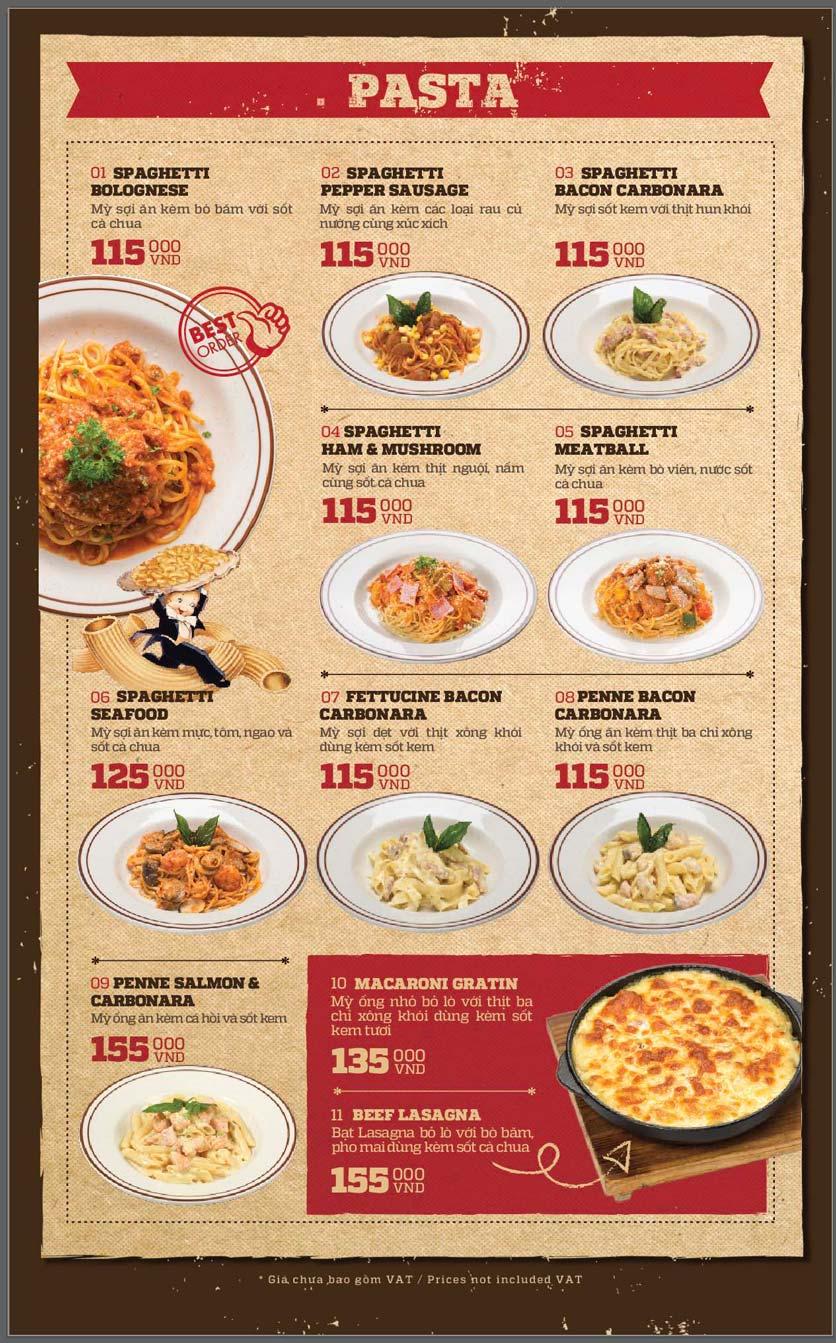 Menu Cowboy Jack's American Dining - Mipec Tây Sơn 12