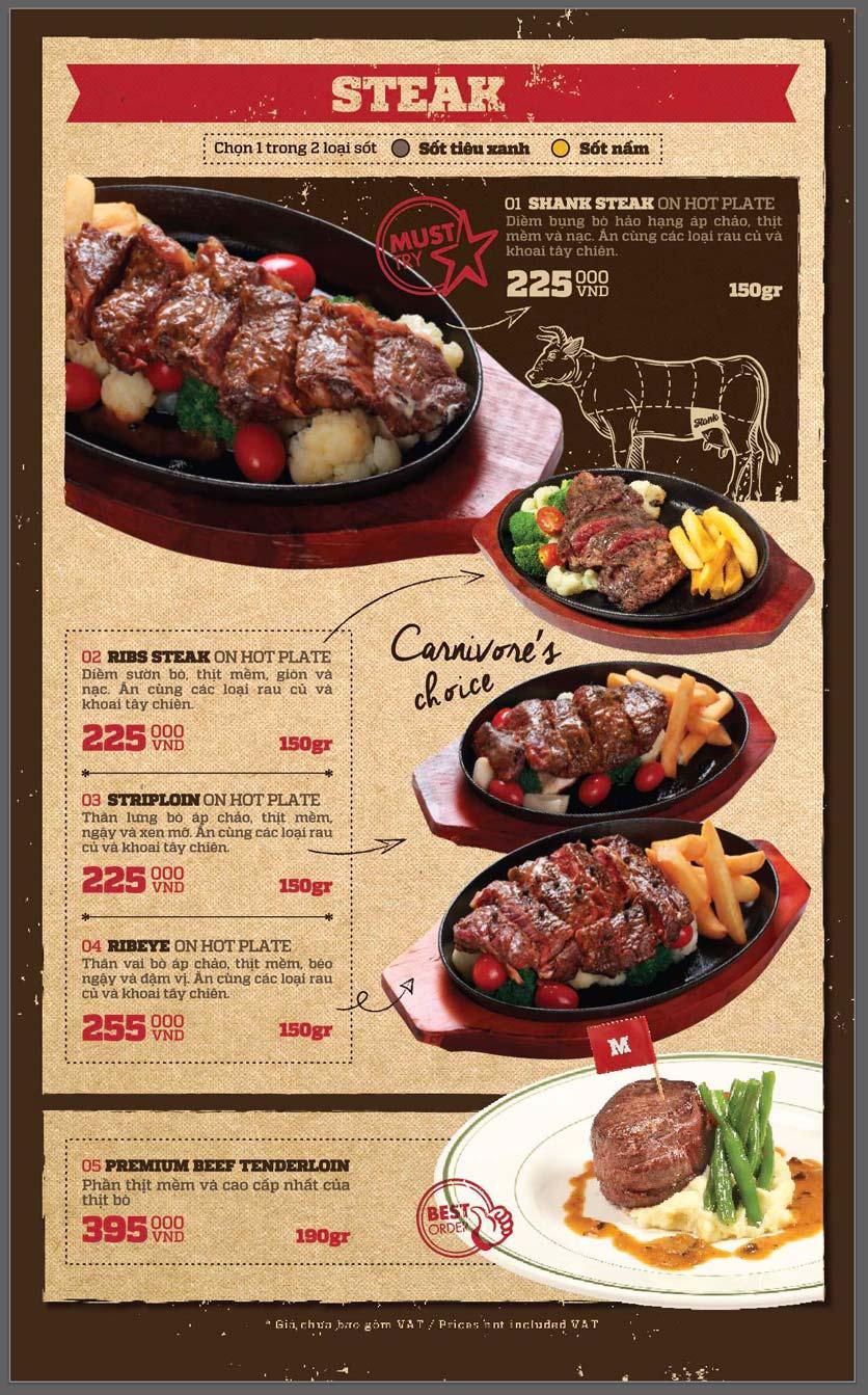 Menu Cowboy Jack's American Dining - Mipec Tây Sơn 5