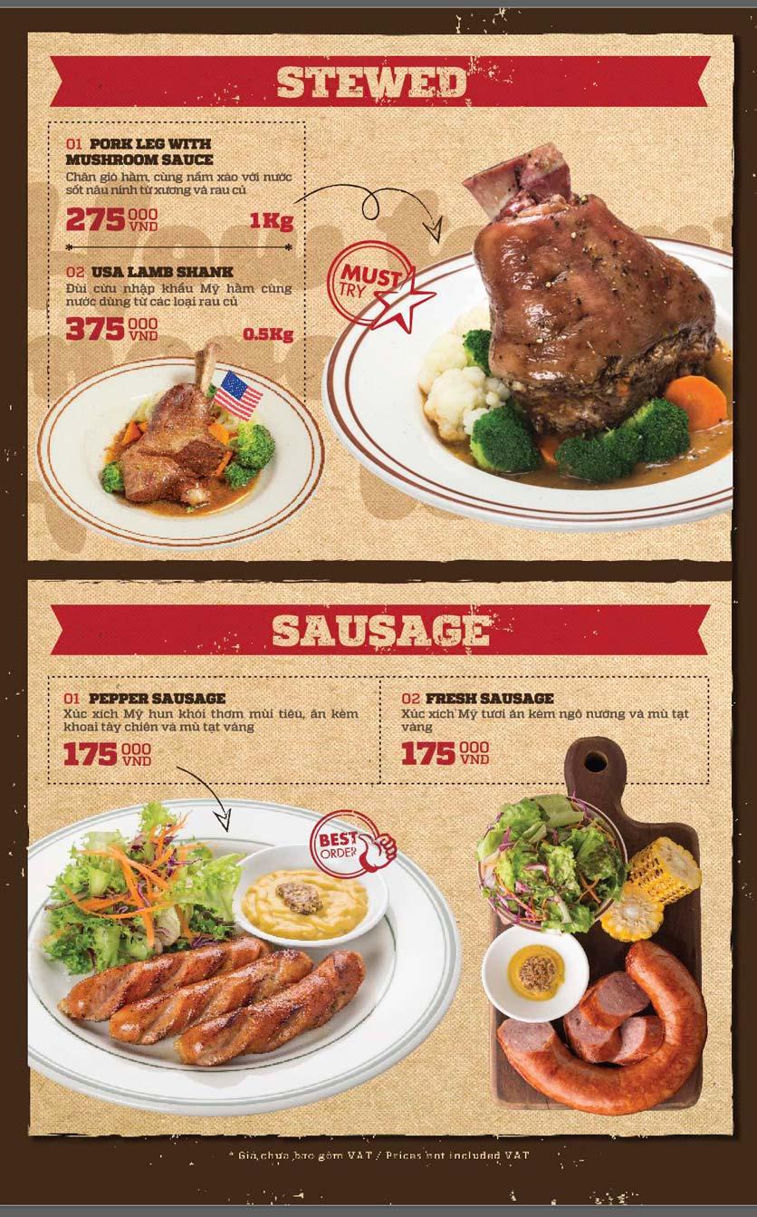 Menu Cowboy Jack's American Dining - Mipec Tây Sơn 7