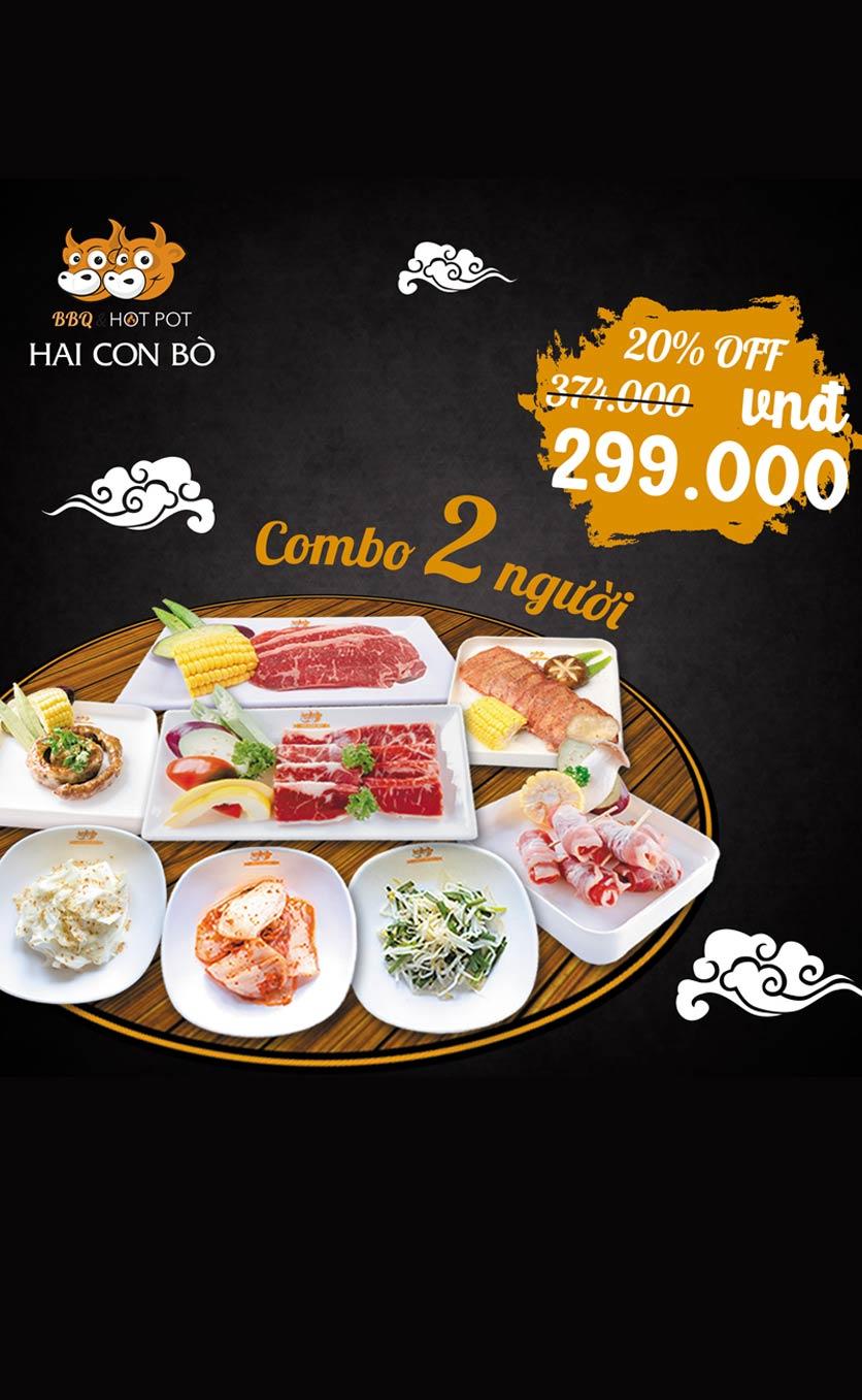 Menu Hai Con Bò BBQ & Hotpot – Cống Quỳnh 2