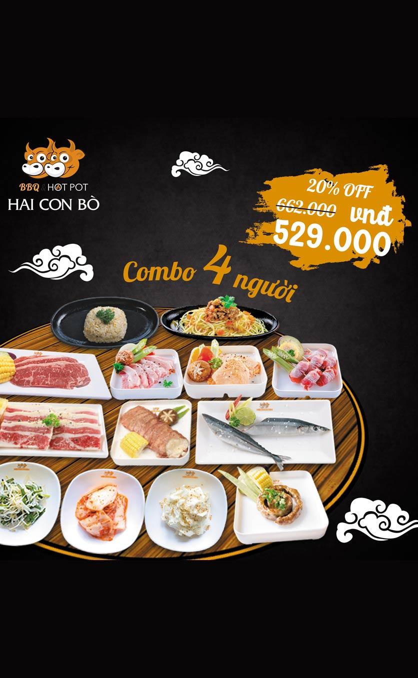 Menu Hai Con Bò BBQ & Hotpot – Cống Quỳnh 3