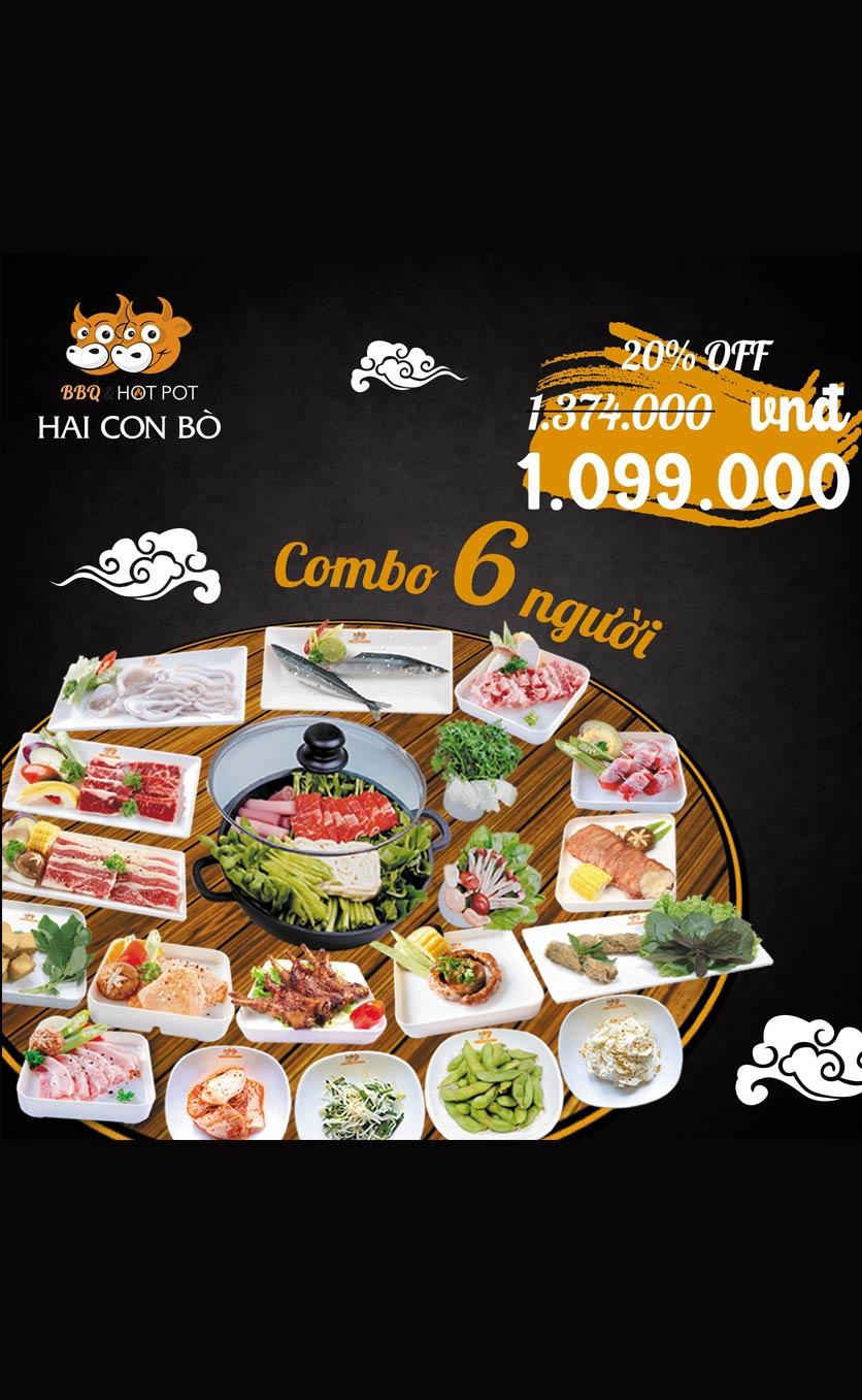 Menu Hai Con Bò BBQ & Hotpot – Cống Quỳnh 4