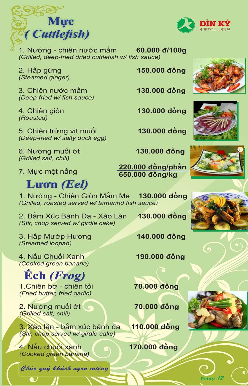Menu DK BBQ & Hotpot Buffet - Hồng Hà  21