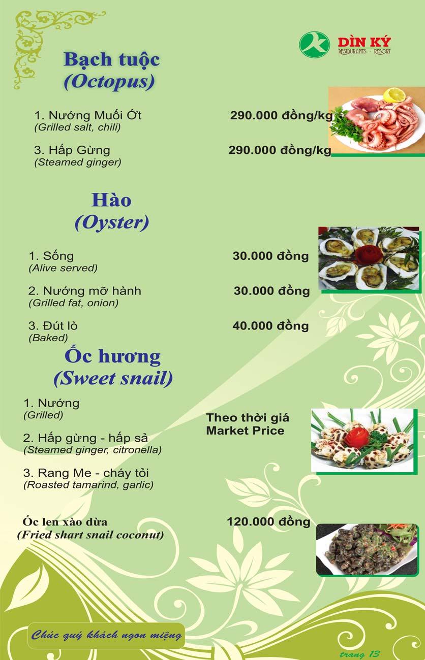 Menu DK BBQ & Hotpot Buffet - Hồng Hà  22