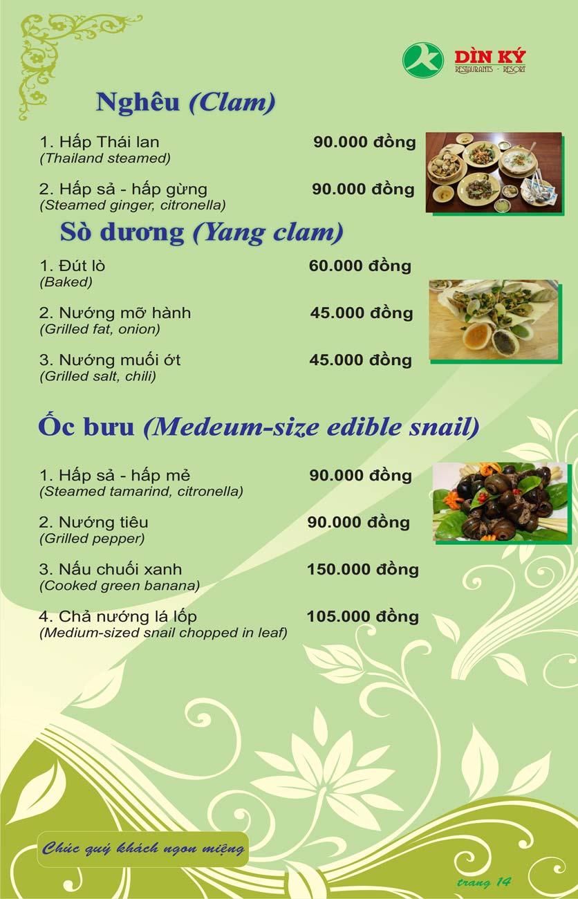 Menu DK BBQ & Hotpot Buffet - Hồng Hà  23