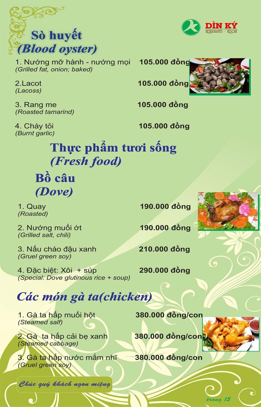 Menu DK BBQ & Hotpot Buffet - Hồng Hà  24