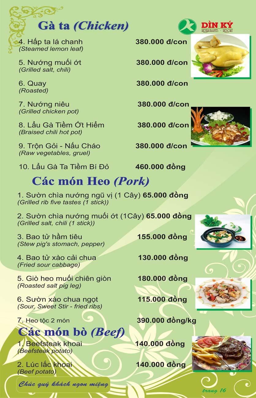 Menu DK BBQ & Hotpot Buffet - Hồng Hà  25
