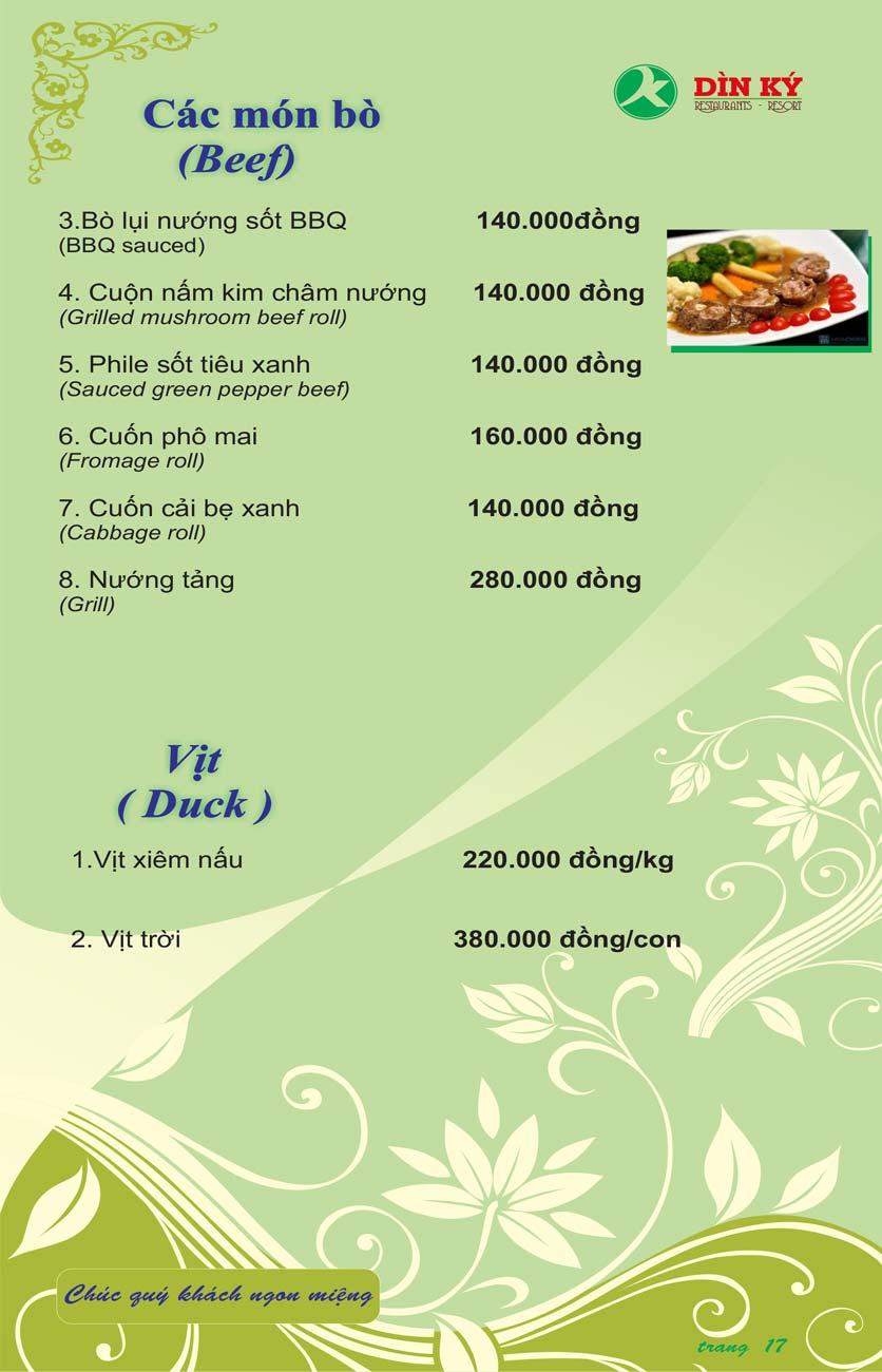 Menu DK BBQ & Hotpot Buffet - Hồng Hà  26
