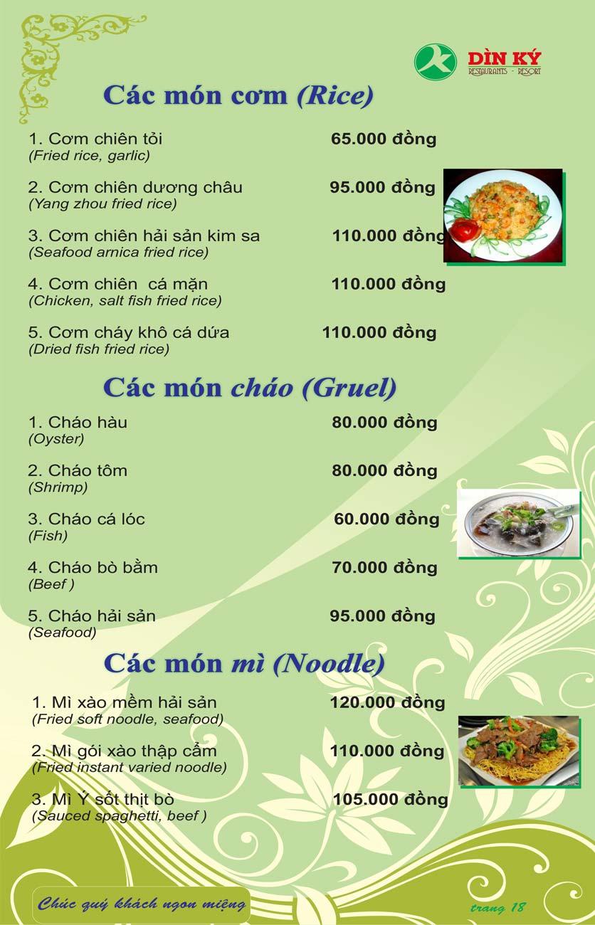 Menu DK BBQ & Hotpot Buffet - Hồng Hà  27