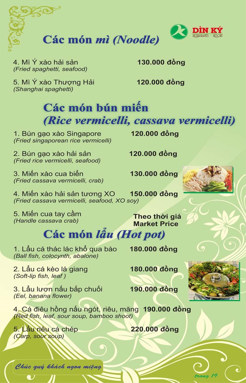 Menu DK BBQ & Hotpot Buffet - Hồng Hà  28