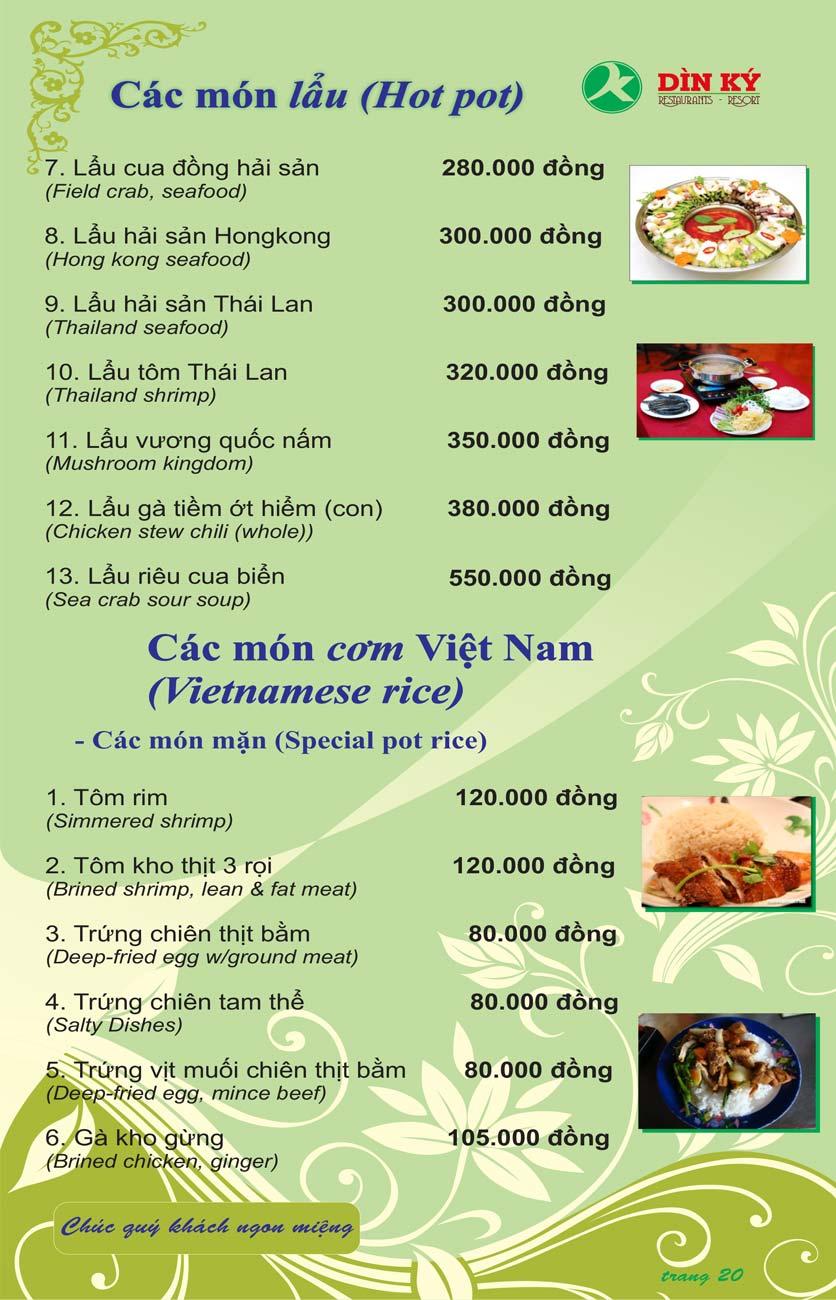 Menu DK BBQ & Hotpot Buffet - Hồng Hà  29