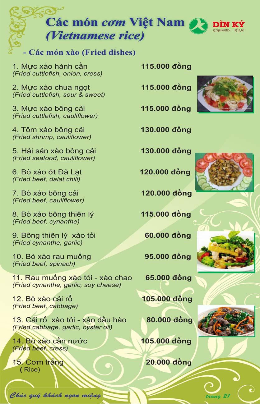 Menu DK BBQ & Hotpot Buffet - Hồng Hà  30