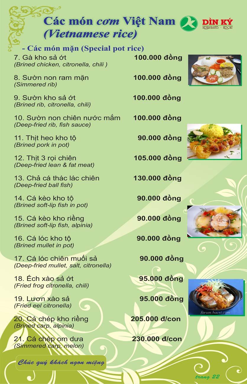 Menu DK BBQ & Hotpot Buffet - Hồng Hà  31