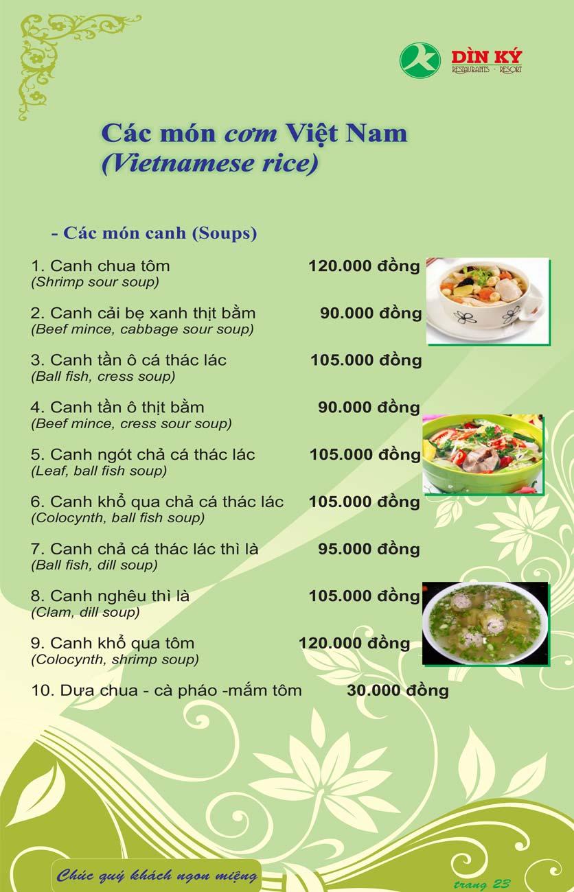 Menu DK BBQ & Hotpot Buffet - Hồng Hà  32