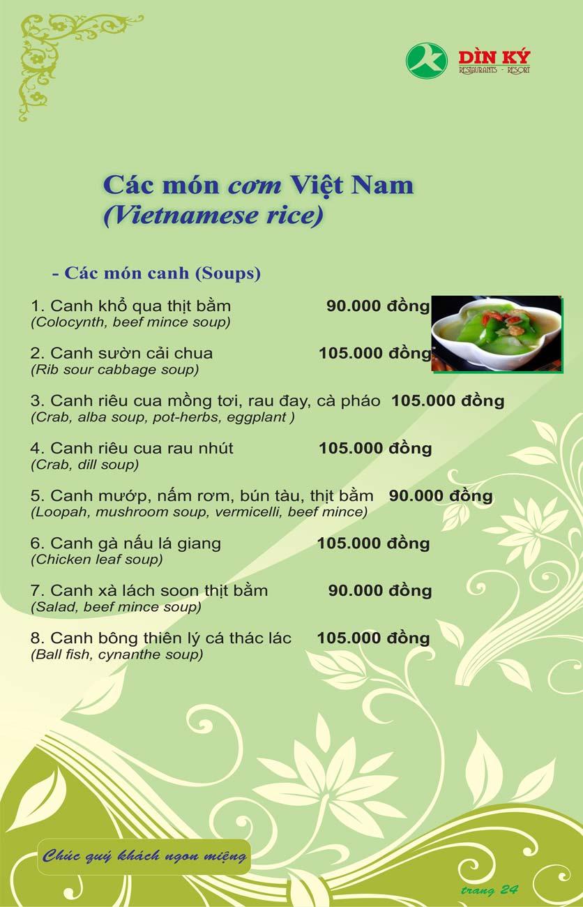 Menu DK BBQ & Hotpot Buffet - Hồng Hà  33