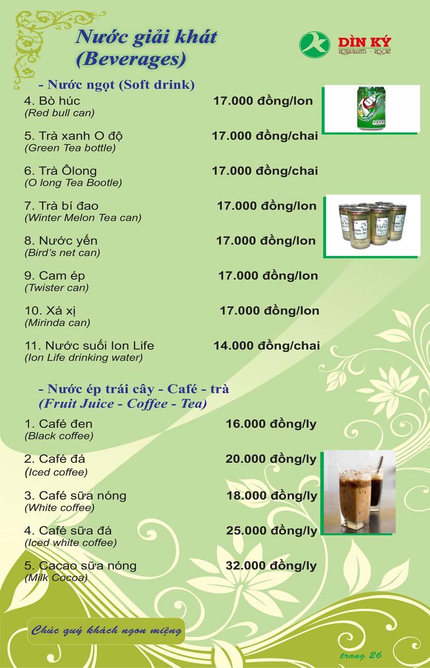 Menu DK BBQ & Hotpot Buffet - Hồng Hà  35