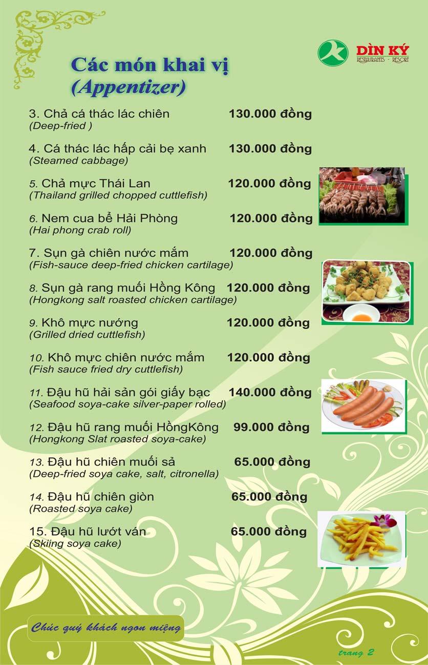 Menu DK BBQ & Hotpot Buffet - Hồng Hà  11