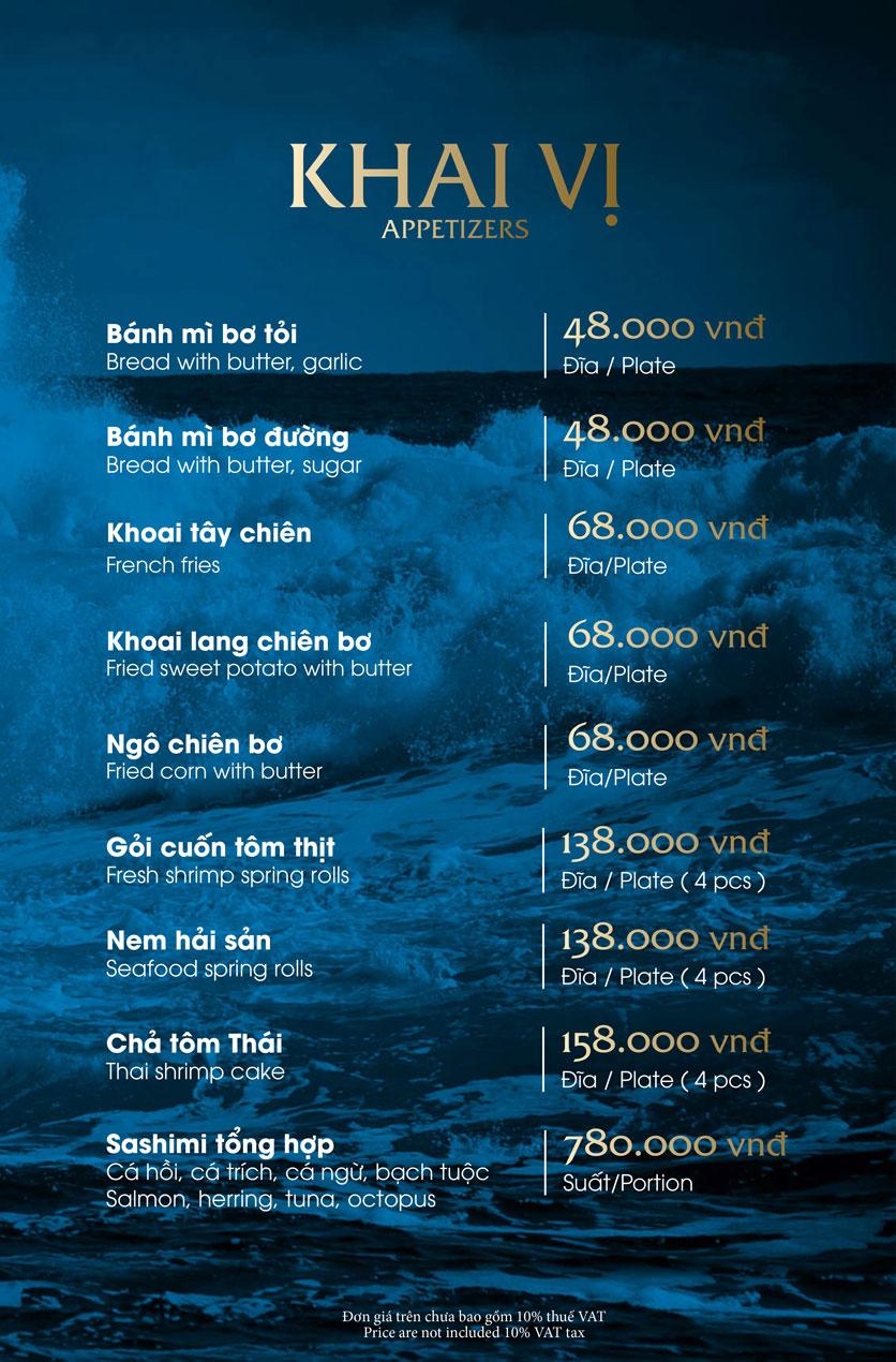 Menu Hải Sản Phố – Trần Khánh Dư 1