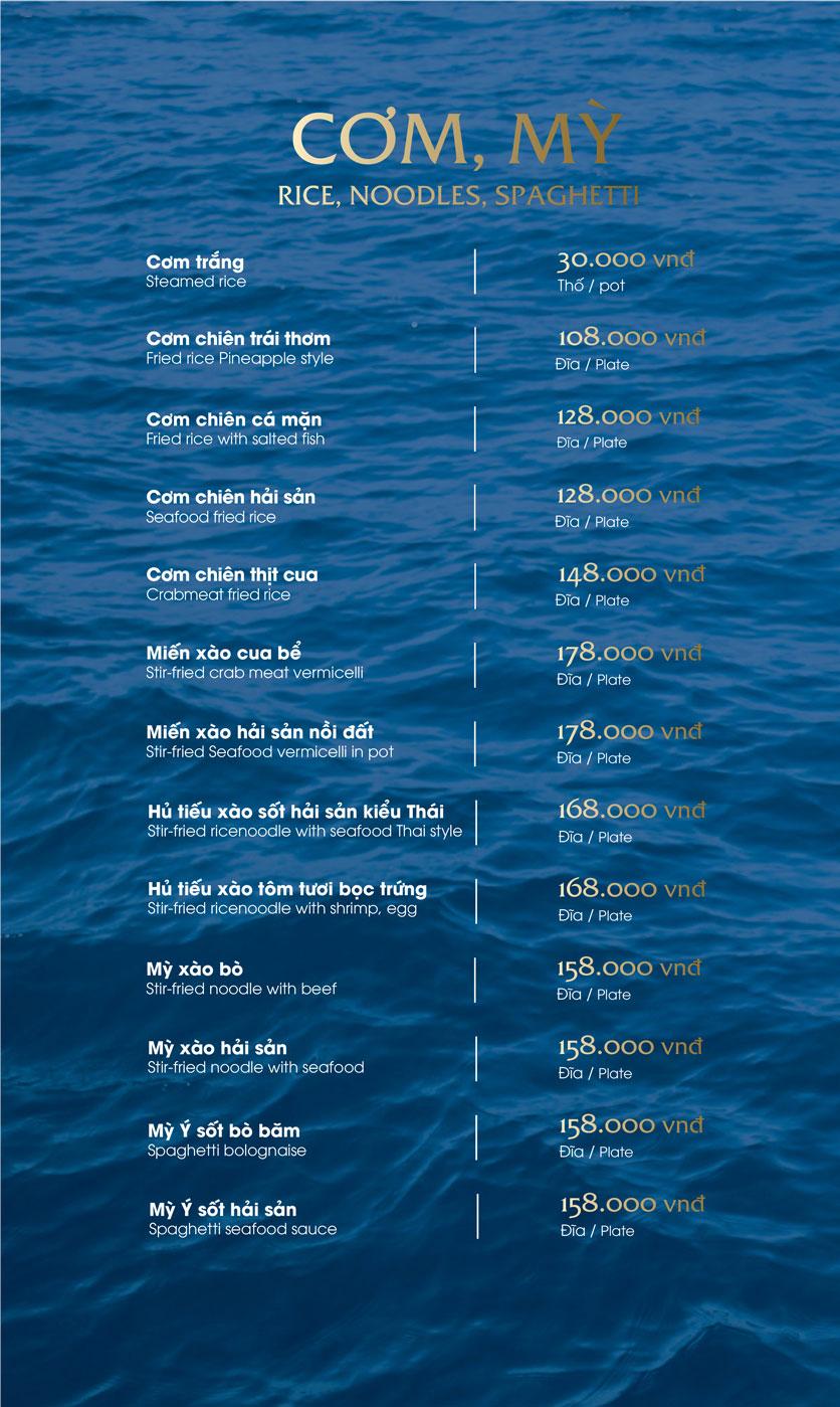 Menu Hải Sản Phố – Trần Khánh Dư 23