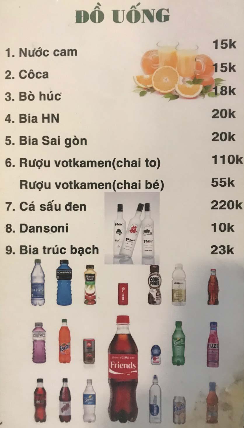 Menu Hoa Sữa - Thanh Liệt 16