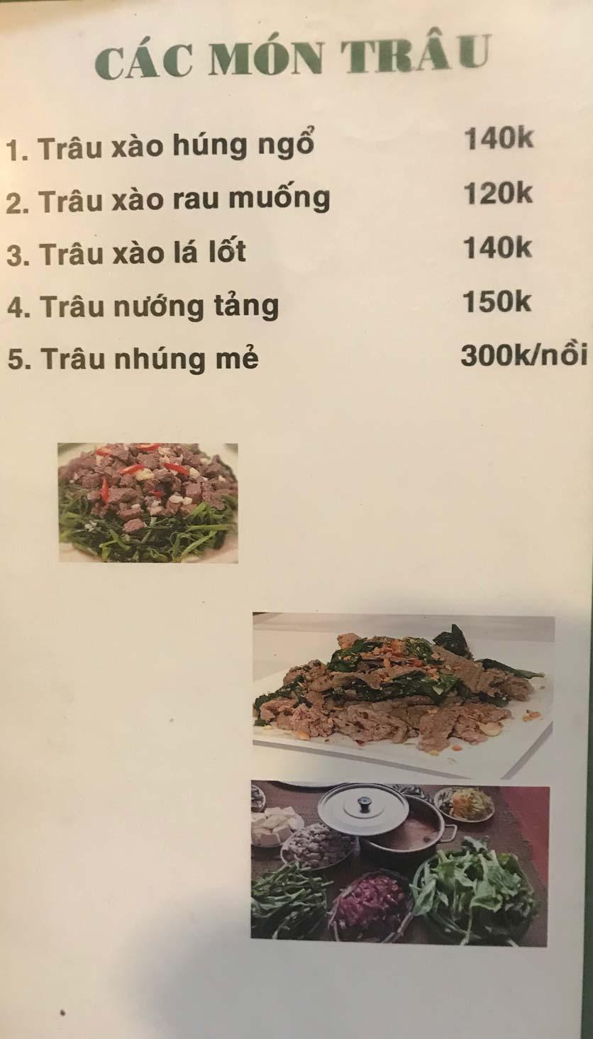 Menu Hoa Sữa - Thanh Liệt 5