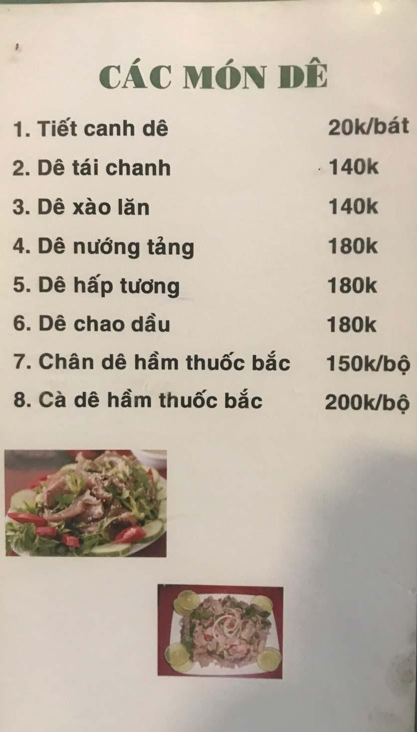 Menu Hoa Sữa - Thanh Liệt 8