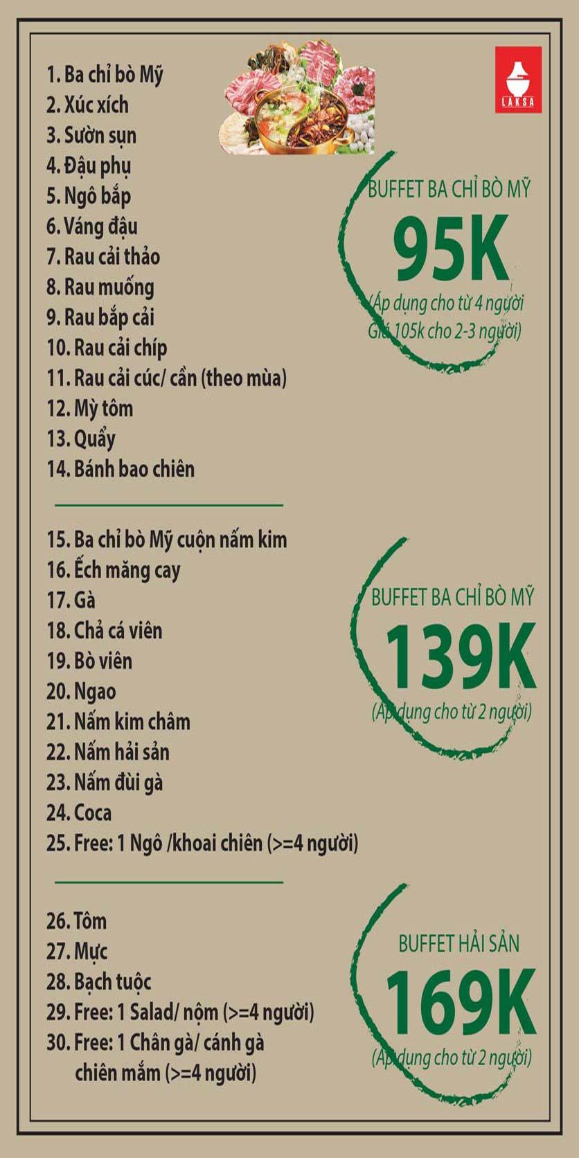 Menu Lẩu Laksa – Thái Hà   1