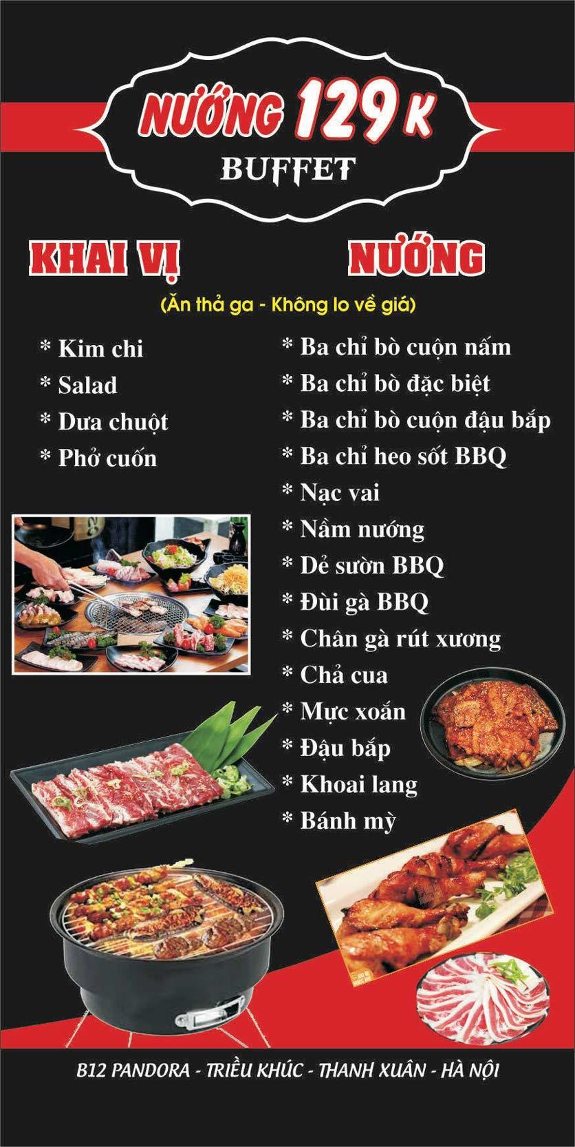 Menu Lẩu nướng 2 3 Zô - Triều Khúc 3