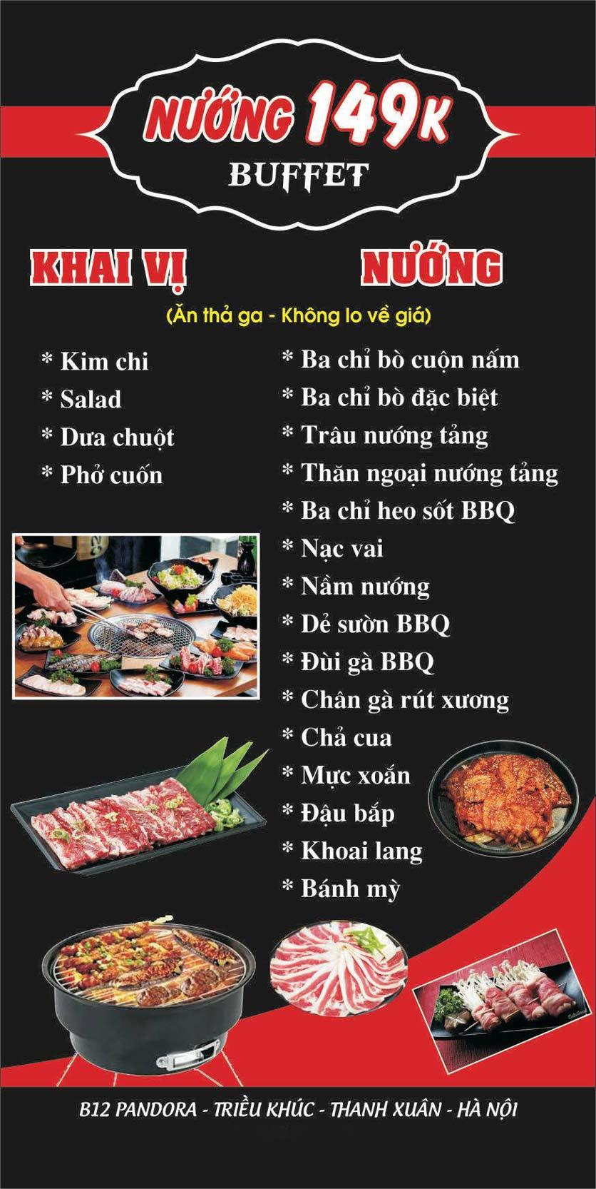 Menu Lẩu nướng 2 3 Zô - Triều Khúc 4